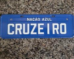 PLACA CRUZEIRO - NA��O AZUL