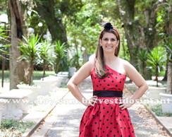 Vestido Adulto Joaninha Al�a �nica