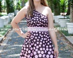 Vestido adulto Marrom com rosa Al�a �nic