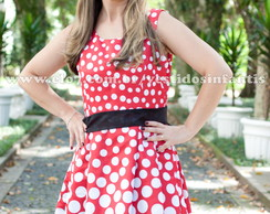 Vestido Minnie vermelha adulto degrad�