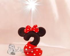 Vela Topo De Bolo Minnie Vermelha