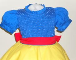 vestido amarelo e azul