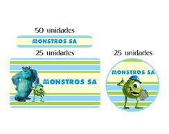 Kit Etiqueta prova a �gua Monstros SA
