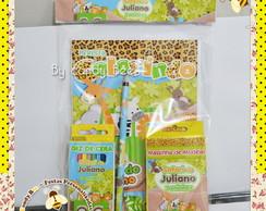 Kit Colorir + Massinha Modelar Safari