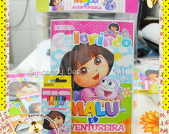 Kit Colorir Dora Aventureira