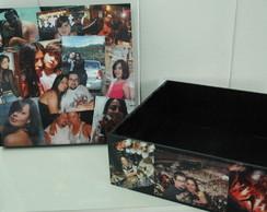 Caixa organizadora com fotos
