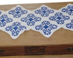 """Caminho de mesa de croch� """"Azulejos"""""""