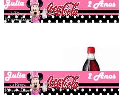 R�tulo Coca Cola Minnie Rosa 19,5x3,5 Cm