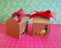 Caixa individual de trufas ou doces