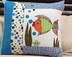 Almofada peixinho - azul