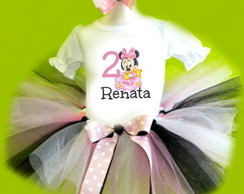 Fantasia Tutu Minnie Rosa baby disney