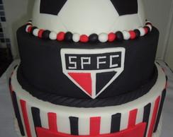 Bolo Cenogr�fico Bola De Futebol SPFC
