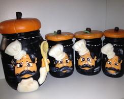 Conjunto de potes cozinheiro