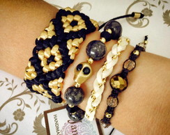 Mix Ethnic Inka Gold & Black