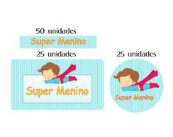 Kit Etiqueta Prova A �gua Super Menino