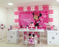 Decora��o Clean Minnie Rosa - Loca��o