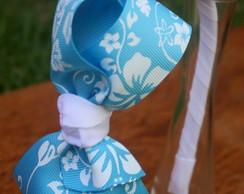 Tiara La�o GG Hibisco Azul