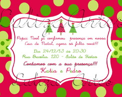 Arte Digital Convite Ceia Natal