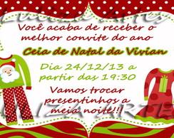 Arte Digital Convite Ceia de Natal Roupa