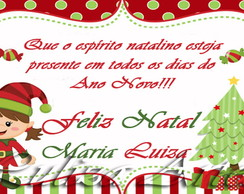 Arte Digital Cart�o Natal