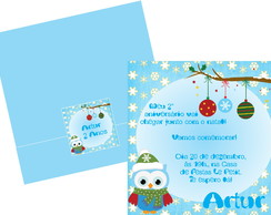 Convite De Natal Corujinhas