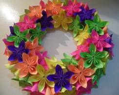 Guirlanda de Flores (Origami)