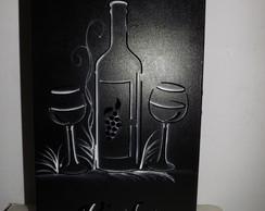 Caixa para vinho e ta�as