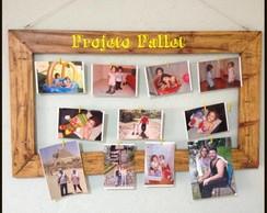 Quadro Varal para Fotos em Pallet