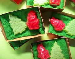 Caixa Presente com Sabonetes Natalinos