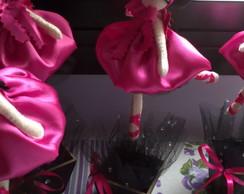 Bailarina Enfeite de Mesa e Topo de Bolo