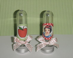 Tubetes decorados Branca de Neve