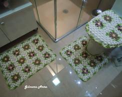 Jogo de banheiro - Flores BNH 044