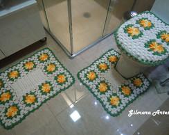 Jogo de banheiro - Flores BNH 037