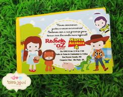 Convite - M�gico De Oz e Toy Story