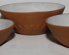 Conjunto Saladeira Girassol - 3 pe�as