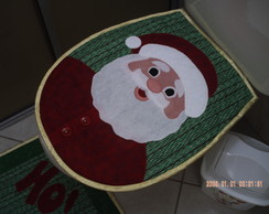 Jogo de Banheiro Papai Noel 03 Pe�as