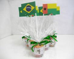 Decora��o de mesa Bandeira do Brasil