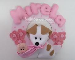 Enfeite De Porta Cachorro Com Beb� 4