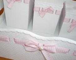Kit Maternidade Luxo Tecido Po� Branco