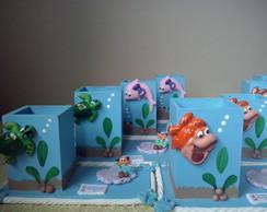 5 Porta-L�pis com base Tema Fundo do Mar