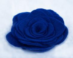 Broche/ Presilha Rosa Azul