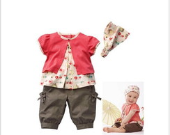 Conjunto Summer  Baby 3 Pe�as