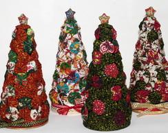 �rvore de Natal em fuxico