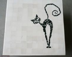 Caixa com tampa em mosaico de m�rmore