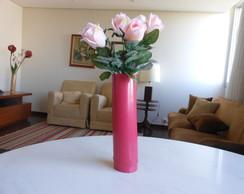 Vaso de bambu, cor cereja