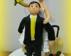 Topo de bolo - Casamento da Bruna