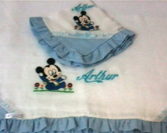 KIT DE FRALDAS BORDADAS MICKEY BABY