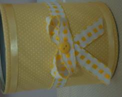 Lata de leite decorada amarelo