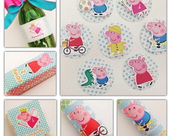Kit Festa Peppa Pig - R�tulos