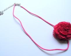 Headband rosa vermelha